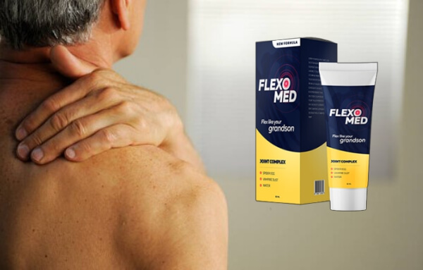 FlexoMed Gel, man with pain in the arm