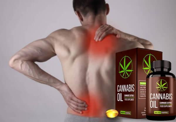 back pain, man, capsules