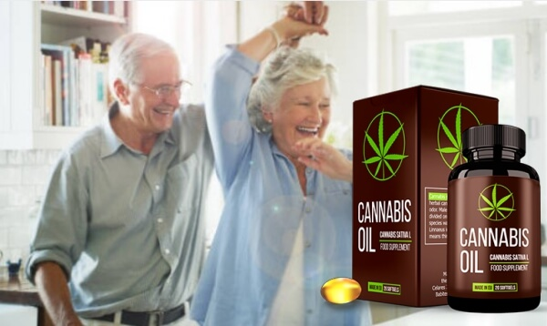 cannabis oil capsules, dancing couple