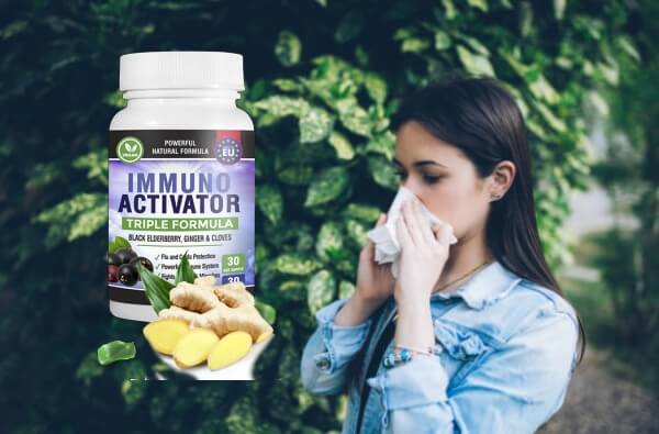 capsules, immune system, ill woman