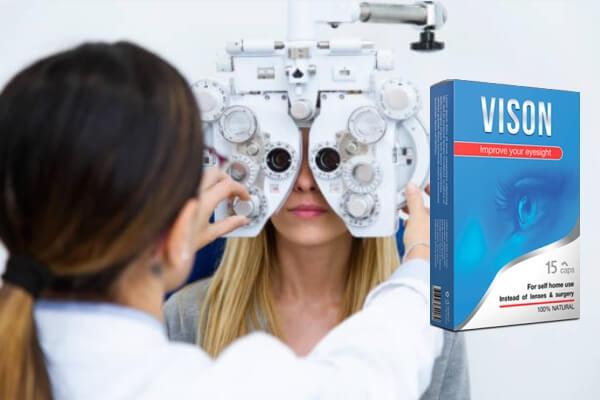 vison capsules, glasses, eye exam