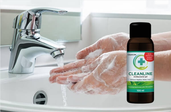hands, anti-bacterial gel cleanline