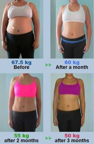 weight loss results infusion tea