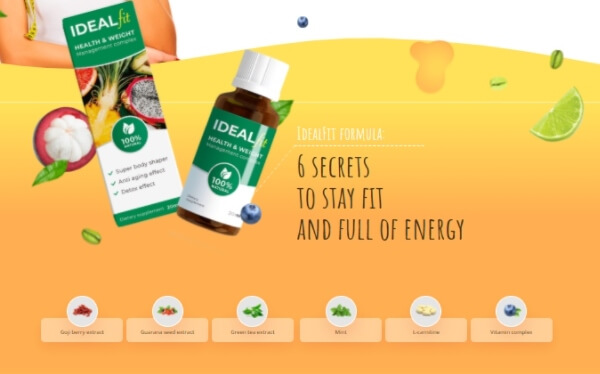 Ideal Fit drops ingredients